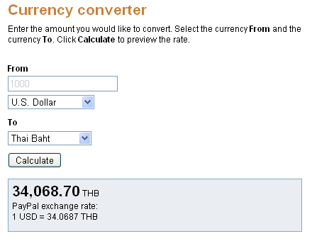 Paypal Currency Converter